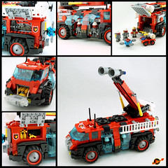 Unmanned Fire Rover Features (TFDesigns!) Tags: lego space fire steelcitylug steel city lug truck rover febrovery frost