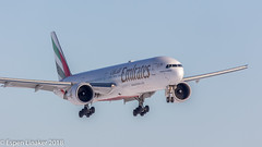 A6-EPB Emirates Boeing 777-31H(ER) (Otertryne2010) Tags: 2018 2k18 boeing engm gardermoen norge norway osl oslo 77731her emirates short final snow winter snø vinter landing lander airliner
