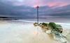 Low Tide (nicklucas2) Tags: avonbeach mudeford seascape beach groyne isleofwight needles rock sand sea seaside solent sunrise sun cloud