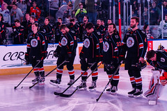 """Kansas City Mavericks vs. Florida Everblades, February 18, 2018, Silverstein Eye Centers Arena, Independence, Missouri.  Photo: © John Howe / Howe Creative Photography, all rights reserved 2018 • <a style=""""font-size:0.8em;"""" href=""""http://www.flickr.com/photos/134016632@N02/39491163905/"""" target=""""_blank"""">View on Flickr</a>"""