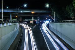 converging tube (pbo31) Tags: bayarea california nikon d810 night dark black color february 2018 winter boury pbo31 urban city lightstream traffic roadway oakland eastbay alamedacounty over webster tube alameda jacklondonsquare 4th tunnel bridge overpass infinity
