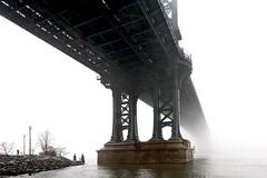 The Manhattan Bridge (joe holmes) Tags: manhattanbridge fog eastriver nyc newyorkcity brooklyn