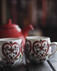 morning tea (..Ania.) Tags: 11warm tea steam teapot heart mug bokeh