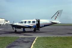 G-BGOX Piper Navajo Anglo Scottish Air Parcels CVT 30-09-81 (cvtperson) Tags: gbgox piper navajo chieftan anglo scottish air parcels coventry cvt egbe
