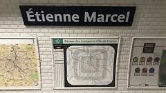 Paris Etienne Marcel station 1 (Csaba923) Tags: paris metro subway galeries lafayette les halles