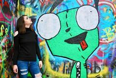 (Kristin Kurtz) Tags: portraits austin atx austintexas texas hopeoutdoorgallery graffitipark seniorphotos gir invaderzim