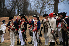 Bayonets (Jen_Vee) Tags: muskets bayonets charge soldiers continental revolutionary encampment training drills valleyforge history livinghistory demonstration unit pennsylvania muhlenberg uniform hats