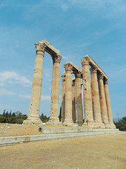 Temple of Olympian Zeus (marco_albcs) Tags: greece greek grécia grecia hellas grece 2013 travel traveling travelling athens capital atenas temple classical architecture columns corynthian zeus olympian templo ancientworldwonders wonder ancient ancientworld