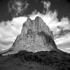 Rock On (Scott Holcomb) Tags: shiprock navajonation fourcorners newmexico hasselblad500c carlzeissdistagon14f50mmlens zenzabronicasr60•2cr1filteradapter kodak400txfilm 120film 6x6 squareformat epsonperfectionv600 photoshopdigitalization