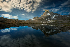 Thousand Island Reflections II (AirHaake) Tags: 1000islandlake landscape nature thousandislandlake idyllic tranquil tranquility bigsky sky clouds epicclouds reflection symmetric symmetry