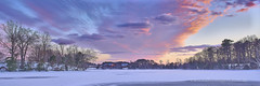 Southern Maryland Icy Panorama (Valley Imagery) Tags: leonardtown frozen white sands beach barn flood creek swan ct sunset winter snow ice water