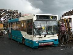 L234TKA Barnsley 2009 (MCW1987) Tags: barnsley scrap bus former arriva merseyside volvo b6 plaxton pointer 7234 l234tka