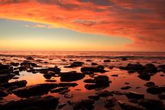 There's A Gulf Between Us (Darren Schiller) Tags: hallettcove adelaide southaustralia sunset gulfstvincent sea ocean rocks clouds beach shore waves