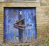Pigeon Post (wontolla1 (Septuagenarian)) Tags: walking walk hiking hike canal calder hebble navigation gate door barn blue pigeon yorkshire sowerby bridge marina rochdale