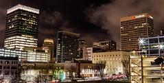 Salt Lake City Skyline (LevixBroski) Tags: salt lake city saltlakecity saltlake 801 slc skyline night black blue light lights exposure canon rokinon samyang bower 24 24mm f14 cityscape