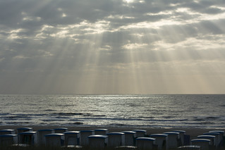 Sunbeams and beach huts