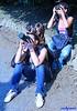 at work (archgionni) Tags: people ragazze girls jeans cameras hobby luce light obiettivi work blu blue