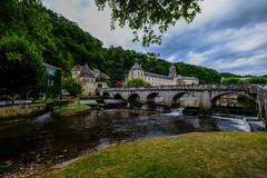 BRANTOME (claude22B) Tags: brantome périgord vert rivière ladronne aquitaine sudouest france reflets reflections river village town abbey abbaye pont bridge claude22b