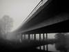 Bridge (H-1) Tags: osternburg oldenburg osternburgerkanal brücke autobahnbrücke schwarz weiss