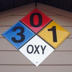 3-0-1-OXY (LeftCoastKenny) Tags: sign diamond square wall