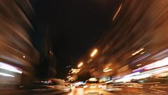 City ride (beray.ince) Tags: night road car building city scape nocturne neon overexposure longexposure exposure lowlight light dark urban photo photography photographer cellphone huawei izmir turkey
