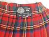 Red Kilt - Wool (vintage-13) Tags: etsy sold lyzzieetsycom red kilt scottish celts celtic highlander outlander highlands scots stewart tartan plaid wrapskirt punk rock leather belt clasp buckle