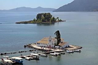 Church of Panagia Vlacherna and the Mouse Island -  Kanoni, Corfu 2017