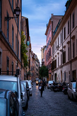 Rome Street Sunset (~Arles) Tags: street sunset italy rome urban city houses people clouds alley