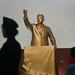 Golden statue of Kim il Sung in Kaeson metro station in front, Pyongan Province, Pyongyang, North Korea
