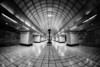 The beauty in the everyday (1) BW (singulartalent) Tags: gantshill uk fisheye london londonunderground markhigham network tfl tube