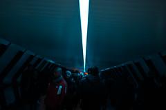 "6,344 ""everyday robots*"" (Panda1339) Tags: thegreat50mmproject 50mm blue london ldn cinematic canarywharf bridge"