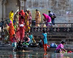 Lake Pichola. Udaipur, India (ravalli1) Tags: india udaipur rajasthan lakepichola 2012 nikon5100 traditions color women dailylife asia girls happiness joy