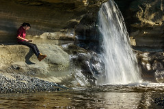 A Place to Read (Carrie Cole Photography) Tags: a6000 bc britishcolumbia canada carriecole carriecolephotography jordanriver pacificnorthwest sandcutbeach sooke vancouverisland victoria westcoast adventure beach girl landscape nature outdoors outside reading thoughtful trail waterfall