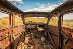 Sun Roof (KPortin) Tags: windows abandoned automobile newmexico lakevalleynm ghosttown hww desert carinterior