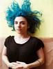 Hexialyse (Dwam) Tags: dwam nb nonbinary portrait 120mmfilm mamiya645 hexialyse bluehair
