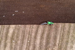 Down on the Farm, ploughing. (Steve Samosa Photography) Tags: farming farm farmland ploughing tractor aerial aerialview dronecamera drone droneshot droneview topdownview rainhill england unitedkingdom gb