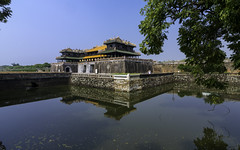 Imperial City (Enrique EKOGA) Tags: hue vietnam asia travel architecture bluesky water reflection oldcity building citadel nikon d800e tokina wall