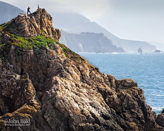 Rocky Point Couple, Big Sur, California  (30389) (John Bald) Tags: bigsur california highway1 rockypoint spring coast coastal couplewalking hiker landscape ocean rocks seascape shore