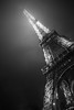 Eiffel Tower (Beau Finley) Tags: paris beaufinley france night city urban eiffeltower toureiffel torre tower eiffel monochrome blackandwhite bw
