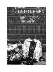 Discarded London Gentlemen © (wpnewington) Tags: rubbish london boots gentlemen closed mesh monochrome
