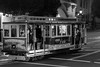 Van Ness 50 (Jeremy Brooks) Tags: bw blackwhite blackandwhite cablecar california night sanfrancisco sanfranciscocounty street transit usa