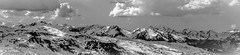 Terre de Lumière (N/B) (Frédéric Fossard) Tags: art surréaliste abstrait grain texture landscape sky nuages clouds mountain light lumière altitude horizon neige snow hiver winter savoie vanoise snowcapped snwocovered ombre shadow panorama montagne picdemontagne mountainrange mountainridge mountainpeaks alpes
