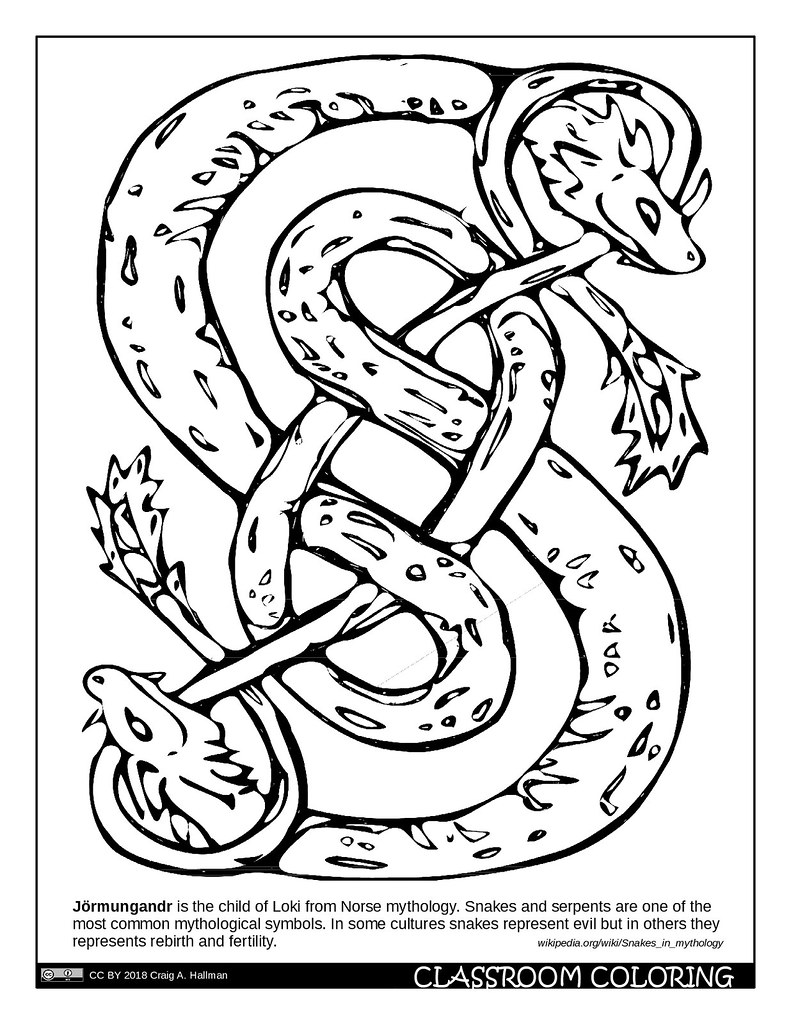 The world 39 s best photos of coloring and page flickr hive for Norse mythology coloring pages