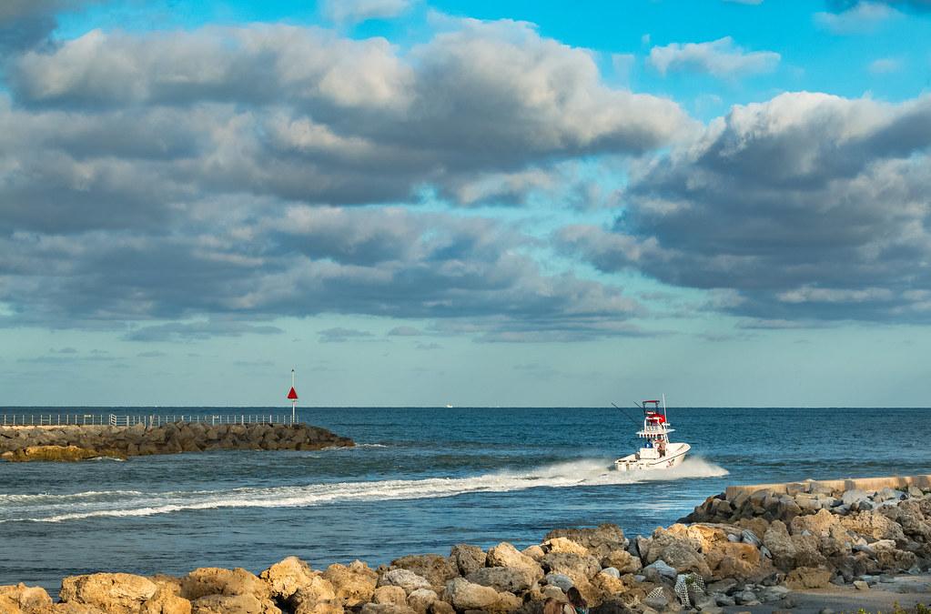 blue ocean clouds scenic - photo #23