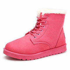 Winter Ankle Snow Boots Lace-up Flat Suede Warm Fur Lining Shoes (916055) #Banggood (SuperDeals.BG) Tags: superdeals banggood bags shoes winter ankle snow boots laceup flat suede warm fur lining 916055