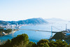 Kanmon Straits_1 (hans-johnson) Tags: honshu kyushu yamaguchi fukuoka shimonoseki kitakyushu hinoyama bridge kanmonstraits kanmon straits kanmonbridge sea natural nature blue light shine sunshine bluesky sky bleu azul japan nihon nippon jp asia asian mountain travel tour trip canon eos 5d eos5d 5diii 5d3 vaco 2470mm sun day hdr capture photography lightroom photoshop lr ps 関門 関門海峡 海峡 山口 下関 北九州 福岡 九州 本州 橋 ブリッジ 日本 馬関 海 空 kanonkyo 35mm landscape