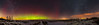 Panorama of the Northern Lights and Winter Stars (Amazing Sky Photography) Tags: acr alberta aurora bigdipper leo milkyway northernlights orion rising steve ursamajor constellations panorama prairie sky snow winter