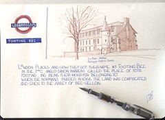 London places and How they got their name # 3 TOOTiNG BEC (oxlade134) Tags: anglo saxon norman tooting bec pen ink sketch drawing london area londonplace londondistrict bechellion