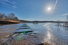 An Important Step (Michael Allen Siebold (Getty Images Contributor)) Tags: water lake steps steppingstones flow blue hdr sun winter bluesky reflection