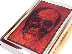 RFID Skull Wood Wallet - Mahogany Wallet, card case, credit card skull wallet, human skull, skeleton wallet, skull case, halloween gift, NYC by ResoluteStar (Resolute Star) Tags: art wood maker pentax k5 fa77 da35 typewriter poetry inspiration quote macro gift etsy resolute star diy handmade still life product photography rfid skull wallet mahogany card case credit human skeleton halloween nyc by resolutestar